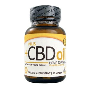 PLUS CBD Oil Hemp 60 Softgels