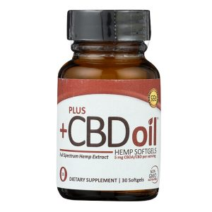 PLUS CBD Oil Red Hemp 30 Softgels